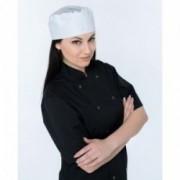 Balta virėjo kepurė su tinkleliu Irmco **