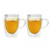 Dviejų dvigubo stiklo puodelių rinkinys Amber Chef, 300 ml