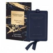 Parfumuota kortelė Stoneglow LEATHER & SAFFRON *