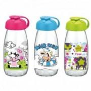 Stiklinis buteliukas pienui su dangteliu Renga MILKY, 250 ml
