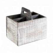 Medinė stalo dėžutė su rankenomis įrankiams ir prieskoninėms Aps, 4 sk. *