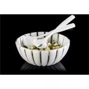 Plastikinė salotinė ir įrankiai salotoms Guzzini GRACE
