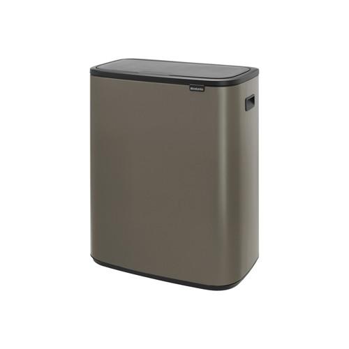 Brabantia Touch Bin 50 Liter Platinum.Siukslių Dėzė Rusiavimui Brabantia Bo Touch Bin Platinum 2x30 L