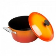 Oranžinis indukcinis ketaus puodas Ronneby Bruk CERAMALJ, 4 l