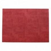 Dirbtinės odos raudonas stalo padėkliukas Asa MELI-MELO, 33x46 cm