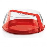 Plastikinė tortinė su dangčiu ir raudona rankena Guzzini FORME CASA, 33,5 cm