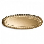 Vienkartinis auksinis ovalus padėklas Monteverdi, 37x19 cm *