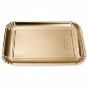 Vienkartinis auksinis stačiakampis padėklas Monteverdi, 35x26,5 cm, 100 vnt.*