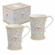 Dviejų porcelianinių puodelių rinkinys Easy Life MAJESTIC FLOWERS, 270 ml
