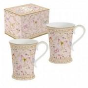 Dviejų porcelianinių puodelių rinkinys Easy Life MAJESTIC BUTTERFLIES, 270 ml