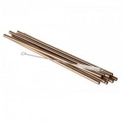 Nerūdijančio plieno šiaudeliai vario spalvos Aps, 21,5 cm *