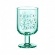 Žalios spalvos stiklinė ant kojelės Bormioli Rocco GRAPHICA, 365 ml
