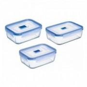 Stiklinių stačiakampių indelių rinkinys Luminarc  PURE BOX, 3 d.