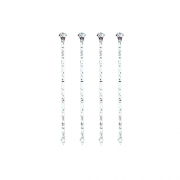 Plastikiniai smeigtukai PapStar Glitter diamant, 9 cm, 300 vnt. *