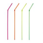 Neoninių spalvų lankstomi šiaudeliai PapStar, 24 cm, 250 vnt. *