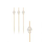 Smeigtukai iš bambuko su dekoracija PapStar DIAMOND, 9 cm, 100 vnt. *
