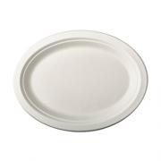 Vienkartinės ovalios lėkštės iš cukranendrių PapStar, 26x20 cm, 50vnt. *