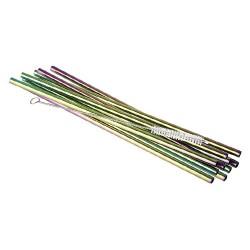 Nerūdijančio plieno vaivorykštės spalvų šiaudeliai, 21,5 cm *