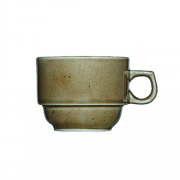 Rudas porcelianinis kavos puodelis G. BENEDIKT COUNTRY, 110 ml