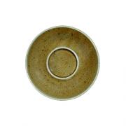 Ruda porcelianinė lėkštutė po puodeliu G. BENEDIKT COUNTRY, 12 cm