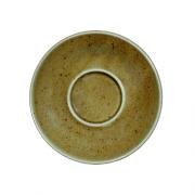 Ruda porcelianinė lėkštutė po puodeliu G. BENEDIKT COUNTRY, 14 cm