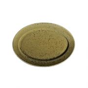 Ruda porcelianinė ovali lėkštė G. BENEDIKT COUNTRY, 24x17 cm