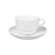 Baltas puodelis su lėkštutė Güral DELTA, 170 ml