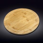 Apvalus bambukinis serviravimo padėklas Wilmax, 40,5 cm