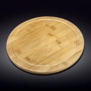 Apvalus bambukinis serviravimo padėklas Wilmax, 45,5 cm