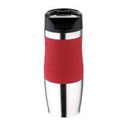Raudonas termo puodelis Bergner TRAVEL, 400 ml