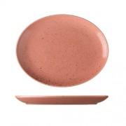 Koralinės spalvos ovali lėkštė Lilien Austria LIFESTYLE, 28x22 cm