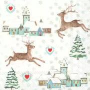 Kalėdinės servetėlės Ihr LOVELY WINTER TIME, 33x33 cm