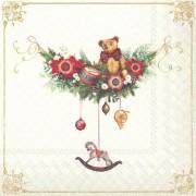 Kalėdinės servetėlės Ihr NOSTALGIC TOY, 33x33 cm