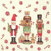 Kalėdinės servetėlės Ihr FRIENDLY CHRISTMAS TOY, 33x33 cm