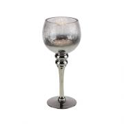 Sidabrinės spalvos žvakidė ant kojelės Werner Voss, 30 cm