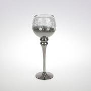 Sidabrinės spalvos žvakidė ant kojelės Werner Voss, 35 cm