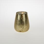 Auksinės spalvos žvakidė Werner Voss, 13x11x11 cm