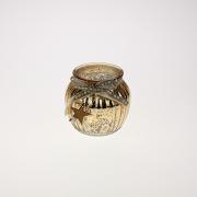 Auksinės spalvos žvakidė Werner Voss, 11x10 cm