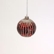 Raudonas kalėdinis žaislas burbulas Werner Voss CHAMPAGNE CHRISTMAS, 8 cm