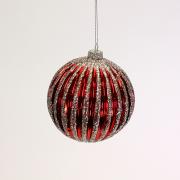 Raudonas kalėdinis žaislas burbulas Werner Voss CHAMPAGNE CHRISTMAS, 10 cm