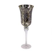 Žvakidė su ornamentais ant kojelės Werner Voss FLEUR, 35 cm