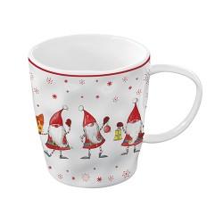Porcelianinis puodelis dovanų dėžutėje Easy Life CHRISTMAS GNOMES, 350 ml