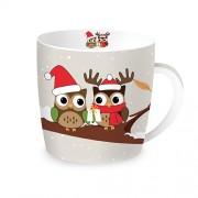 Porcelianinis puodelis dovanų dėžutėje Easy Life OWLS ON BRANCH, 350 ml
