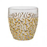 Stiklinė su auksinės spalvos dekoracijomis Bohemia NICOLETTE, 350 ml