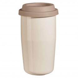 Smėlio spalvos termo puodelis ASA CUP & GO, 350 ml