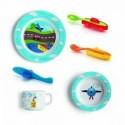 Plastikinių vaikiškų indų ir stalo įrankių rinkinys Guzzini BIMBI, 6 dalys