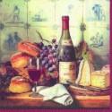 Popierinės servetėlės Ihr WINE & CHEESE, 33x33 cm