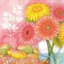 Popierinės rožinės servetėlės Ihr SUMMER DAY, 33x33 cm