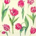 """Popierinės servetėlės """"Tulpės"""", 33x33 cm"""