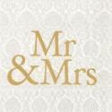 Popierinės servetėlės Ihr Mr & Mrs Gold, 33x33 cm